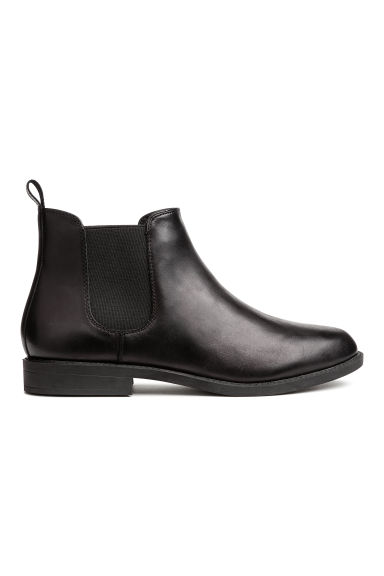 Bottines Chelsea en cuir - Noir -  | H&M BE