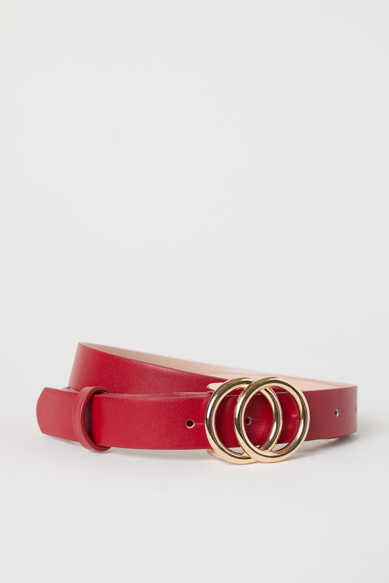 Narrow belt - Red - Ladies | H&M GB
