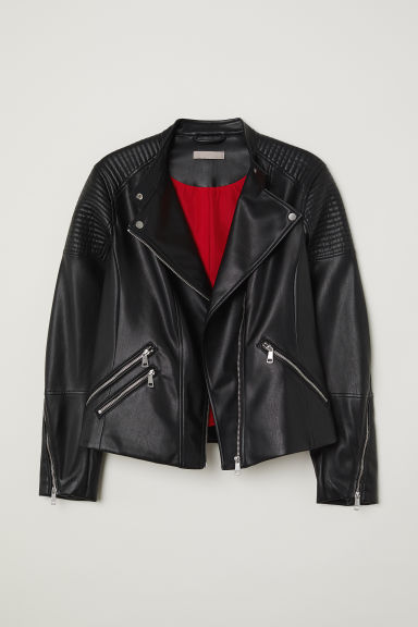 H&M+ Biker jacket - Black - Ladies | H&M