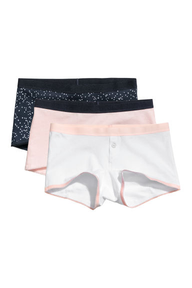 3-pack cotton boxer briefs - White/Spotted - Kids | H&M
