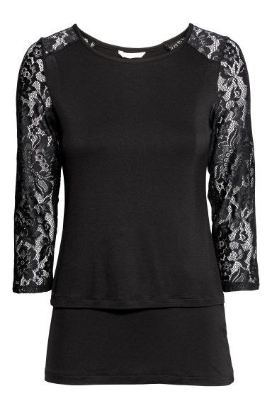 MAMA Nursing top - Black - Ladies | H&M CN
