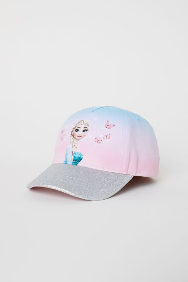 Cap with a glittery peak - Light pink/Frozen -  | H&M