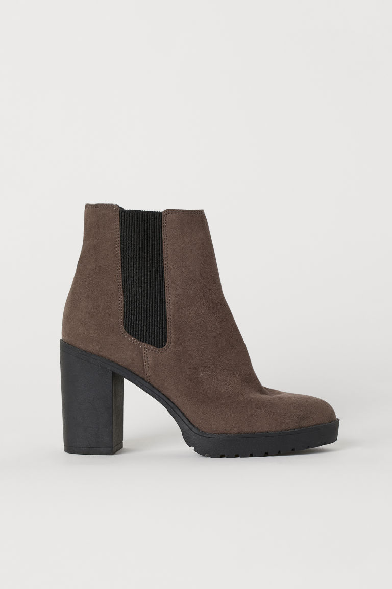 Warm-lined ankle boots - Dark brown - Ladies | H&M CN