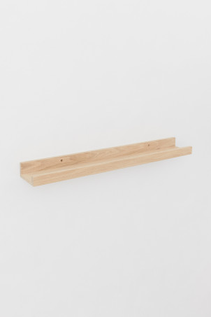 Wooden picture shelf