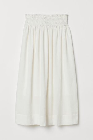 Cotton crêpe skirt