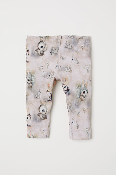 Printed leggings - Powder pink - Kids | H&M CN