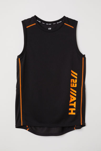 Sports vest top - Black - Kids | H&M