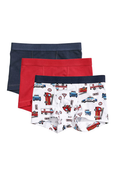 3-pack boxer shorts - White/Fire engines - Kids | H&M