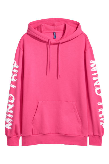 Hooded top - Pink/Mind Trip -  | H&M IE