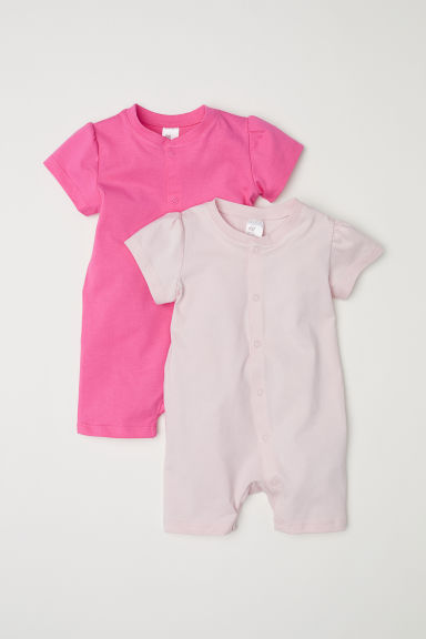 2-pack all-in-one pyjamas - Pink -  | H&M CN