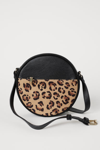 Round shoulder bag - Black/Leopard print - Ladies | H&M CN