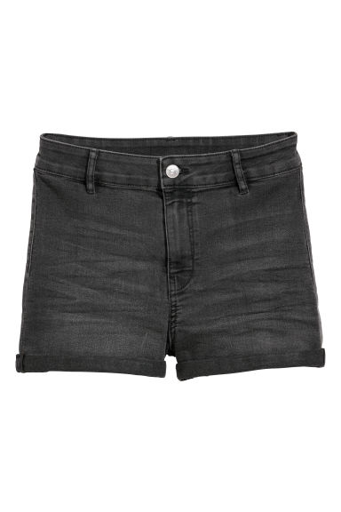 Twill shorts High Waist - Dark denim grey - Ladies | H&M CN