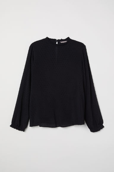 H&M+ Camicetta in plumetis - Nero - DONNA | H&M IT
