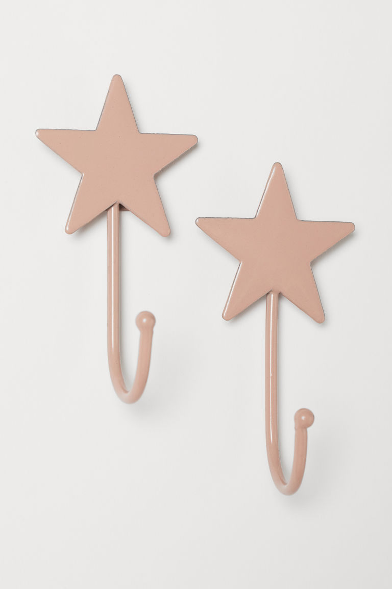 2-pack hooks - Old rose - Home All | H&M CN