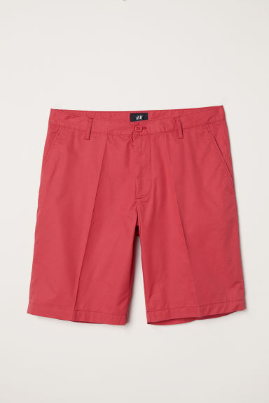 Chino shorts - Coral red - Men | H&M CN