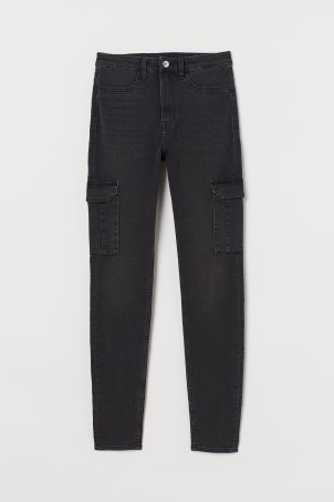 Slim High Cargo Jeans