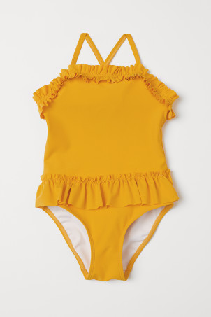 Frilled swimsuit