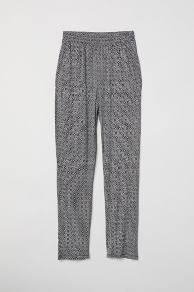 Pantaloni in jersey - Nero/bianco fantasia -  | H&M IT