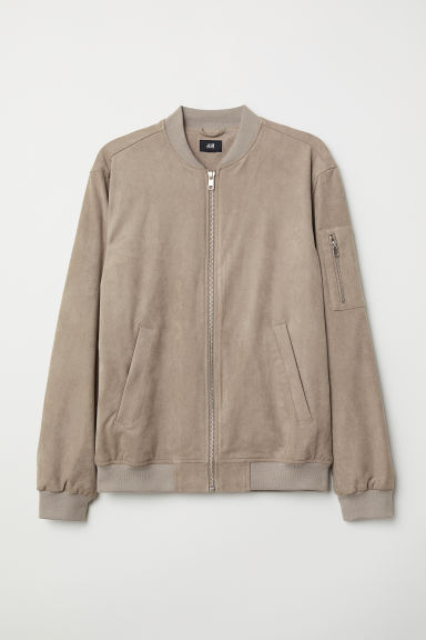 Imitation suede bomber jacket - Mole - Men | H&M