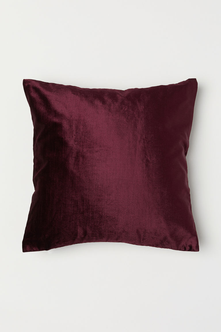 Velvet cushion cover - Burgundy - Home All | H&M CN