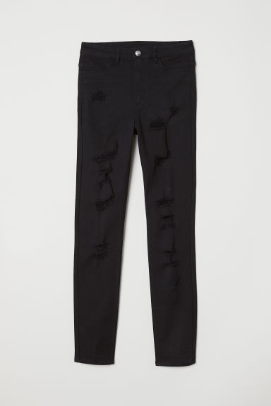 Super Skinny High Jeans - Negru -  | H&M RO