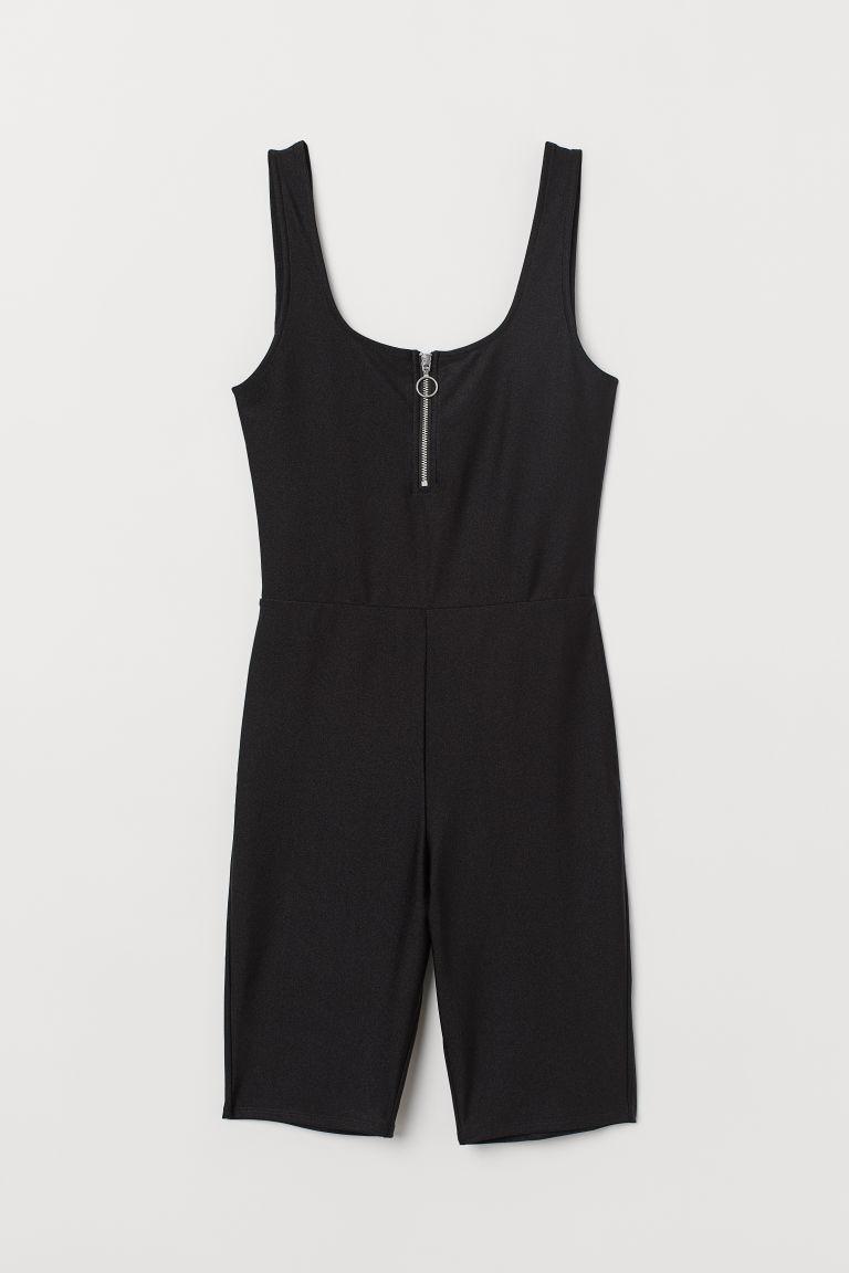 marca faimoasa vânzare la cald culori delicate Costum mulat scurt de jerseu - Negru - FEMEI | H&M RO