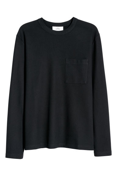 Pima cotton top - Black - Men | H&M