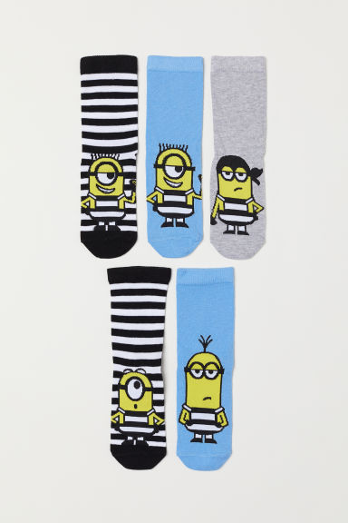 5-pack socks - Yellow/Minions - Kids | H&M