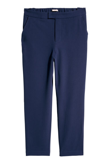 H&M+ Side-striped trousers - Dark blue - Ladies | H&M GB