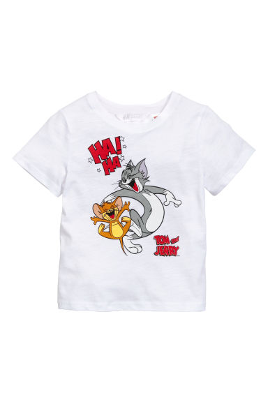 T-shirt met print - Wit/Tom en Jerry -  | H&M BE