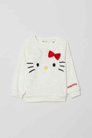 Pile top - White/Hello Kitty - Kids | H&M