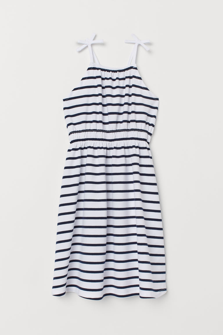 Patterned dress - White/Blue striped - Kids | H&M