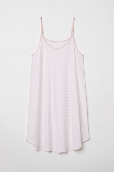 Jersey nightslip - White/Light pink striped - Ladies | H&M CN