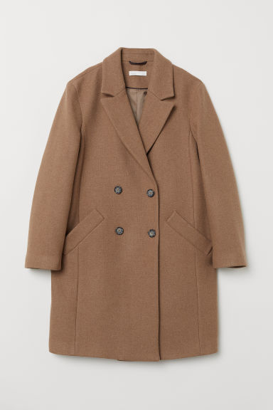 Wool-blend coat - Beige - Ladies | H&M