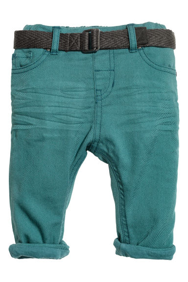 Twill trousers - Petrol - Kids | H&M CN