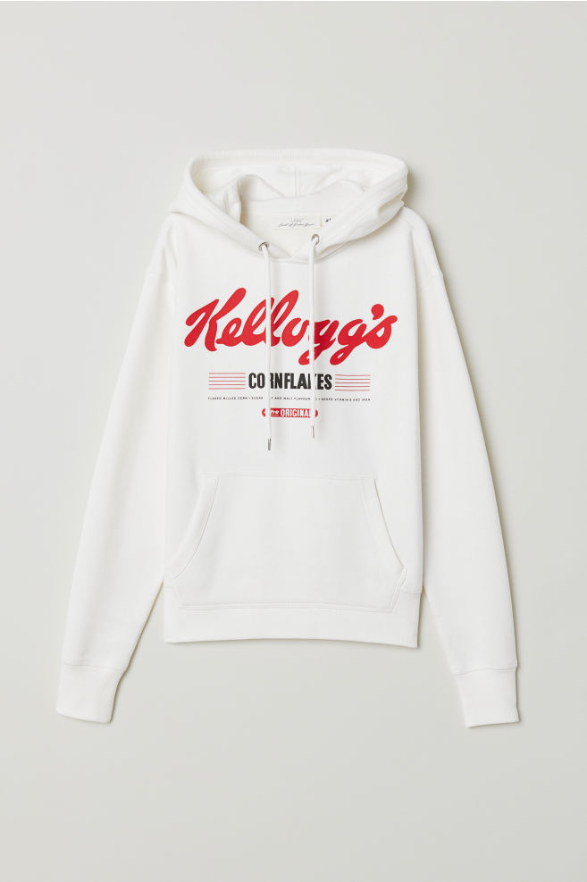 378907925d8051 Printed Hooded Sweatshirt - Natural white Kellogg s - Ladies