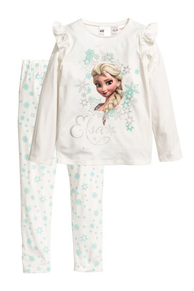 Jersey pyjamas - White/Frozen - Kids | H&M CN
