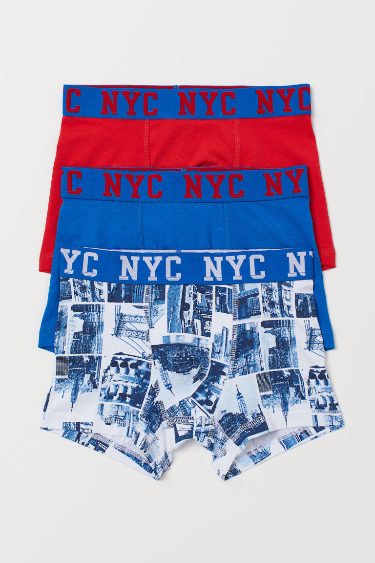 3-pack bóxers - Azul intenso/NYC - Kids | H&M US
