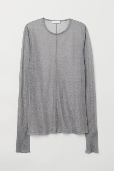 Glittery top - Grey - Ladies | H&M