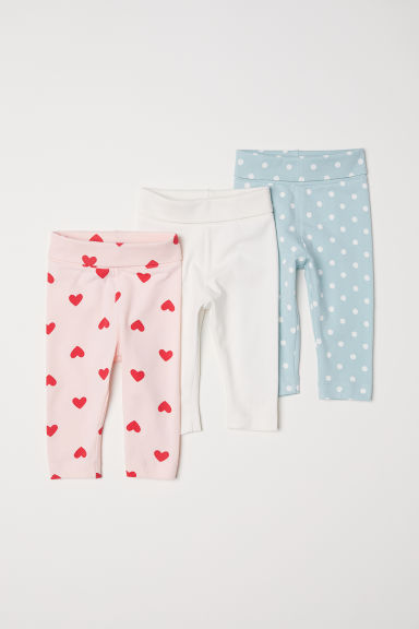 3-pack leggings - Light turquoise/Spotted - Kids | H&M