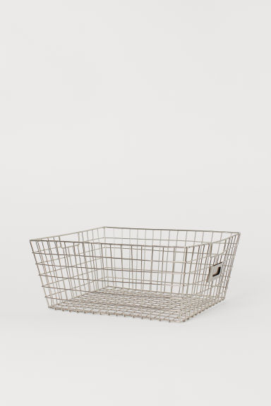 Storage basket - Silver-coloured - Home All | H&M GB