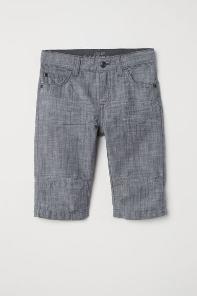 Pantaloni a tre quarti - Grigio/chambray -  | H&M IT