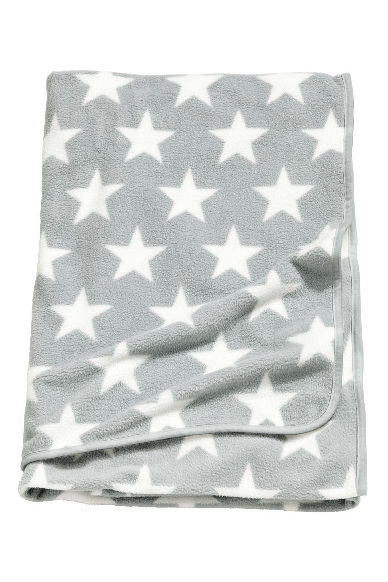 f3cd41ee7f91 Fleece blanket - Light grey Stars - Home All