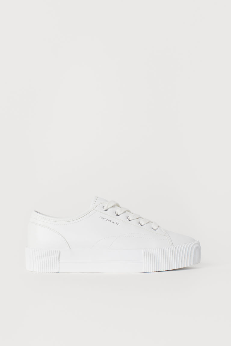 Plateausneakers - Wit -  | H&M BE