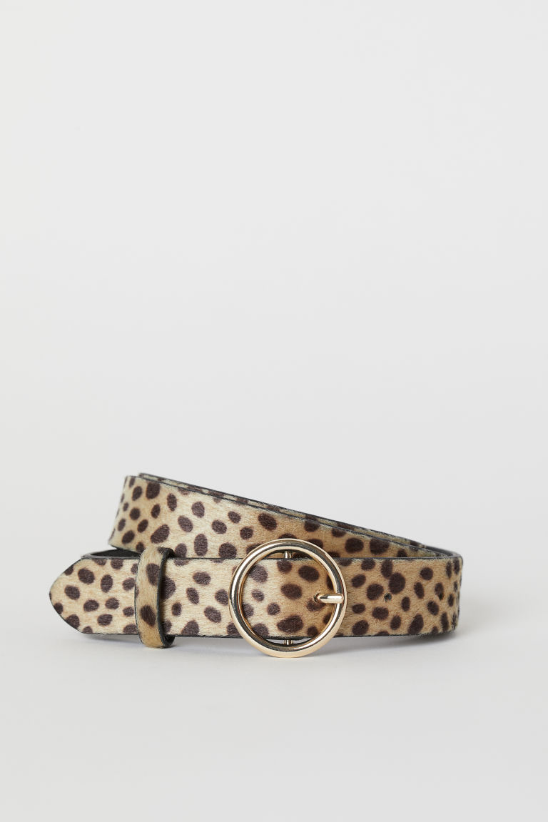 Belt - Beige/leopard print - Ladies | H&M CA