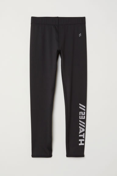 Sports tights - Black/Ath -  | H&M CN