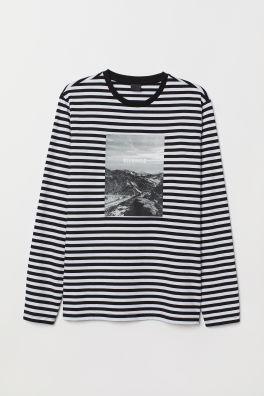 91e484c55 Stylowe t-shirty z długim rękawem | H&M PL