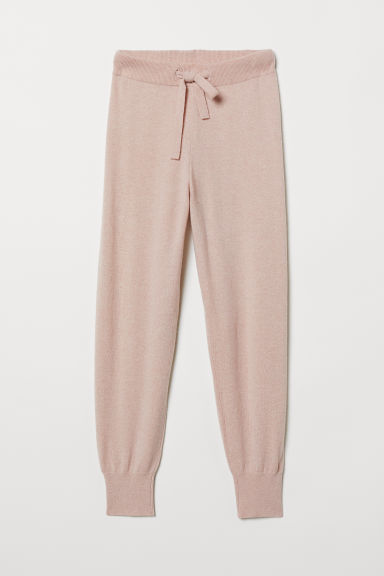 Joggers in cashmere - Rosa - DONNA | H&M IT