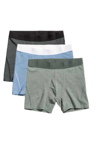 3-pack trunks - Dark grey/Striped -  | H&M
