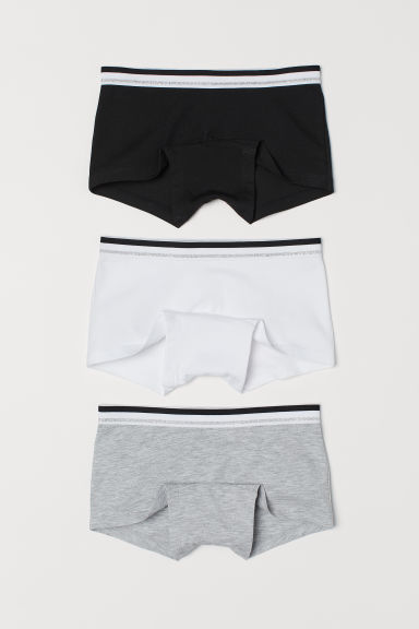 3-pack boxer briefs - Black/White - Kids | H&M CN